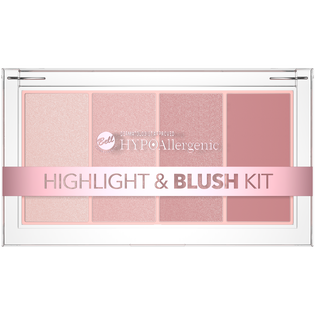 Bell HypoAllergenic_paleta rozświetlaczy i różu do twarzy 01, 20 g