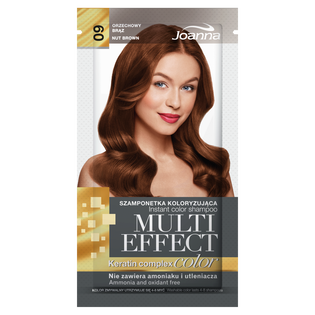 Joanna_Multi Effect Color_szamponetka koloryzująca 09 orzechowy brąz, 35 ml