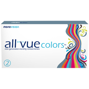 All Vue_Colors Green_soczewki moc 0.00, 2 szt./1 opak.