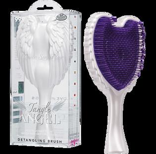 Tangle Angel_WOW! Biało-fioletowa_szczotka do włosów, 1 szt.