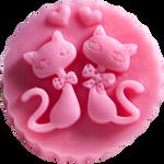 LaQ Dwa kotki w medalionie