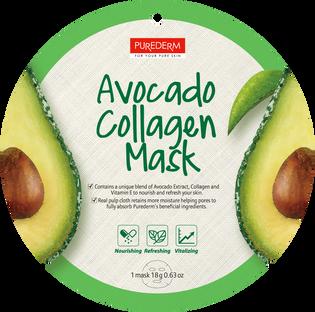 Purederm_Avocado Collagen_nawilżająco-liftingująca maseczka z awokado do twarzy, 1 szt.