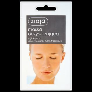 Ziaja_Oczyszczająca_oczyszczająca maska do twarzy z glinką szarą, 7 ml