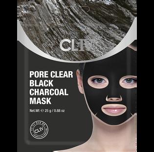 Cliv_oczyszczająca pory czarna maska w płachcie do twarzy z węglem aktywnym, 25 g