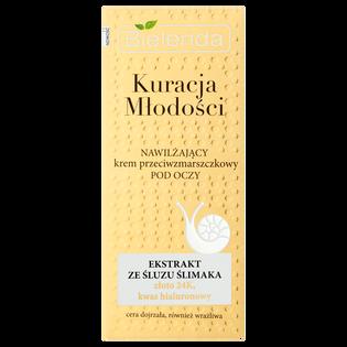 Bielenda_Kuracja Młodości_nawilżający krem przeciwzmarszczkowy pod oczy na dzień i na noc, 15 ml