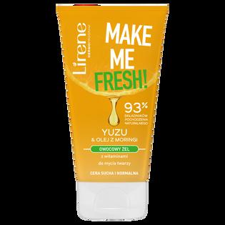 Lirene_Make Me Fresh!_owocowy żel do twarzy yuzu & olej z moringi, 150 ml