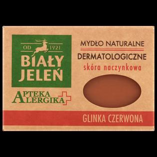 Biały Jeleń_Apteka Alergika_mydło naturalne dermatologiczne w kostce, glinka czerwona, 125 g