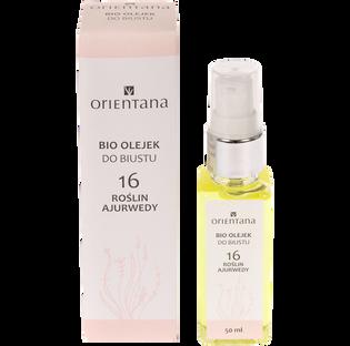 Orientana_16 Roślin Ajurwedy_naturalny olejek do pielęgnacji biustu, 50 ml