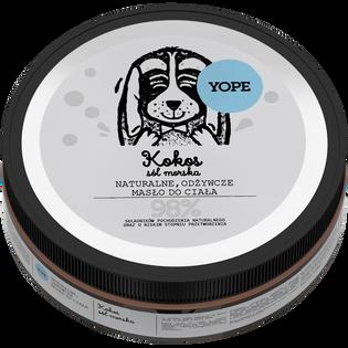 Yope_Kokos, sól morska_naturalne, odżywcze masło do ciała, 200 ml