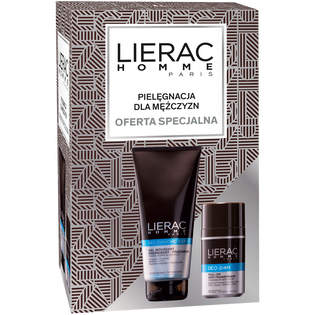 Lierac_Homme_zestaw: żel pod prysznic 3w1, 200 ml + dezodorant w kulce, 50 ml
