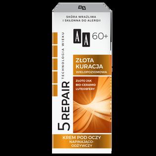 AA_Technologia Wieku 5Repair 60+_nawilżająco-odżywczy krem pod oczy 60+, 15 ml