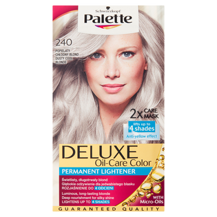 Palette_Deluxe Oil Care Color_farba do włosów 240 popielaty chłodny blond, 1 opak.