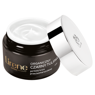 Lirene_Organiczny Czarny Tulipan_perłowy krem przeciwzmarszczkowy do twarzy na dzień 70+, 50 ml_1