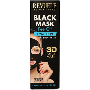 Revuele_Black Mask Peel Off Hyaluron_nawilżająca maska do twarzy peel off, 80 ml_2