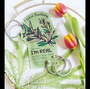 Tony Moly_I'm Real_maska do twarzy drzewo herbaciane, 1 szt._2