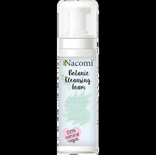 Nacomi_100% Natural Vegan_botaniczna naturalna pianka do mycia i demakijażu twarzy, 150 ml
