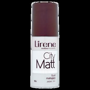 Lirene_City Matt 16h_matujący podkład w płynie do twarzy jasny 203, 30 ml