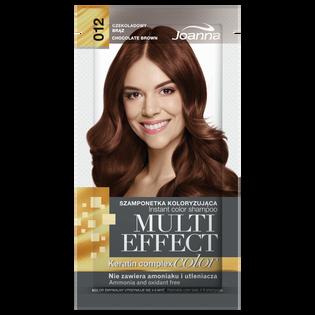 Joanna_Multi Effect Color_szamponetka koloryzująca 012 czekoladowy brąz, 35 g