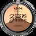 Nyx_3 Steps To Sculpt_paleta do konturowania twarzy light, 5 g_1