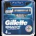 Gillette_Mach3 Turbo_wkłady do maszynki do golenia, 4 szt./1 opak._1