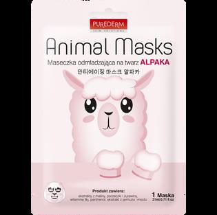 Purederm_Animal Masks_odmładzająca maska do twarzy, 1 szt.