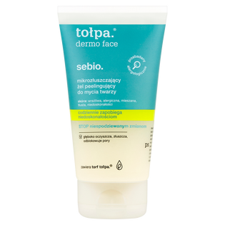 Tołpa_Dermo Face Sebio_mikrozłuszczający żel peelingujący do mycia twarzy, 150 ml