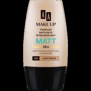 AA_Make Up Matt_matująco-wygładzający podkład do twarzy light beige 103, 30 ml