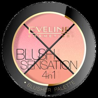 Eveline_Blush Sensation 4in1_paleta róży do twarzy 4w1, 13,5 g