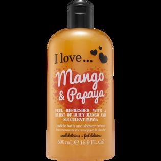 I Love_Mango & Papaya_kremowy żel do kąpieli o zapachu mango i papaji, 500 ml_1