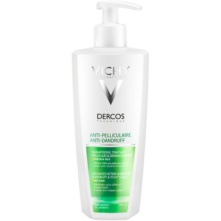 Vichy_Dercos_przeciwłupieżowy szampon do włosów suchych, 390 ml