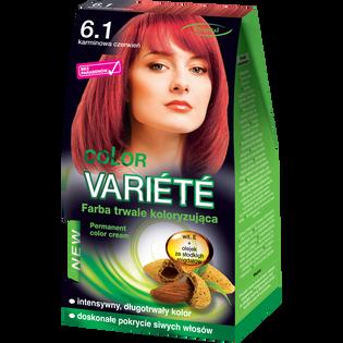 Color Variete_Karmino czerń_farba do włosów 6.1 karminowa czerwień, 1 opak.