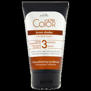 Joanna_Ultra Color_odżywka do włosów podkreślająca i odświeżająca odcienie brązu na włosach farbowanych lub naturalnych, 100 g