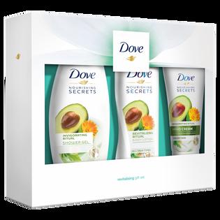 Dove_Nourishing Secrets_zestaw: żel pod prysznic, 250 ml + balsam do ciała, 250 ml + krem do rąk, 75 ml