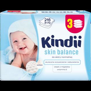 Kindii_Skin Balance_chusteczki dla niemowląt, 3x72 szt./1 opak.