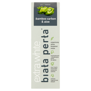 Biała Perła_Bamboo Carbon & Aloe Pasta_pasta do zębów, 75 ml