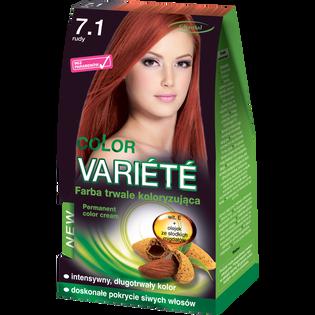 Color Variete_Rudy_farba do włosów 7.1 rudy, 1 opak.