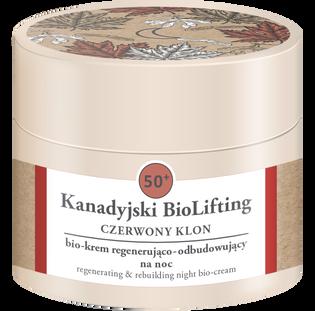 Kanadyjski Biolifting_Czerwony Klon_krem regenerująco-odbudowujący do twarzy na noc 50+, 50 ml_1