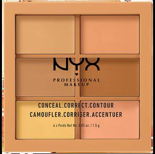 NYX Professional Makeup_Conceal, Correct, Contour Palette!_paleta korektorów do twarzy medium, 1,5 g_1