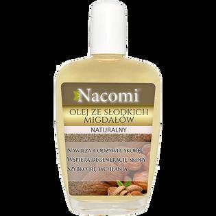 Nacomi_olej ze słodkich migdałów do twarzy, ciała i włosów dla skóry suchej, 50 ml