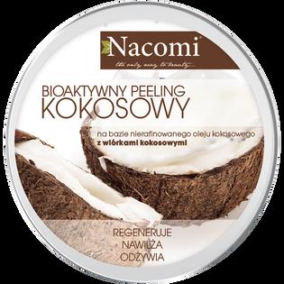 Nacomi_Kokosowy_bioaktywny peeling do ciała z olejem kokosowym i wiórkami kokosowymi, 150 ml