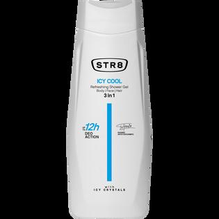 STR8_Icy Cool_odświeżający żel pod prysznic męski, 400 ml