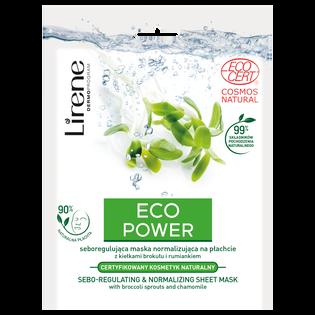 Lirene_Eco Power_normalizująca maska do twarzy, 32 g