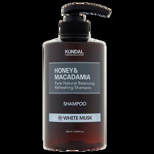 Kundal_Honey & Macadamia_odświeżający szampon do włosów z białym piżmem, 500 ml