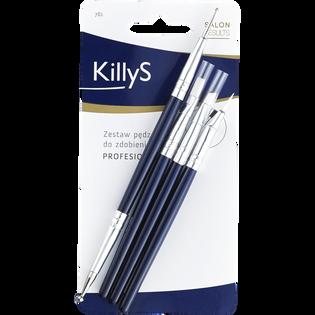 Killys_zestaw: pędzelki do zdobienia paznokci, 3 szt + sonda, 1 szt.