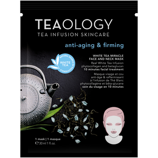 Teaology_White Tea_ujędrniająca maska na twarz i szyję z białą herbatą, 30 ml