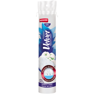Velvet_Natural Comfort_płatki kosmetyczne, 120 szt./1 opak.