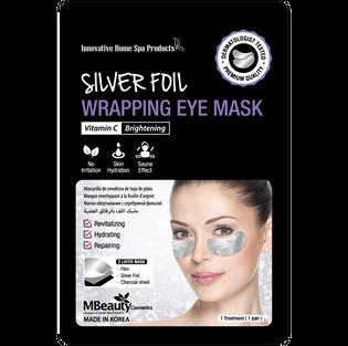Mbeauty_Silver Foil_rozświetlające płatki pod oczy na srebrnej folii z witaminą C, 12 ml