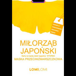 Lomi Lomi_maska do twarzy liftingująca z miłorzębem japońskim do skóry mieszanej na tkaninie, 26 ml