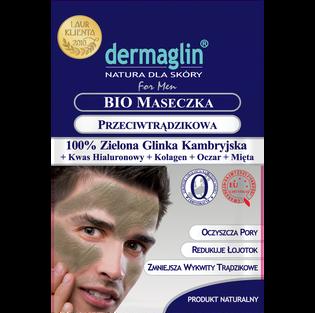 Dermaglin_Bio_przeciwtrądzikowa maseczka do twarzy dla mężczyzn, 20 g
