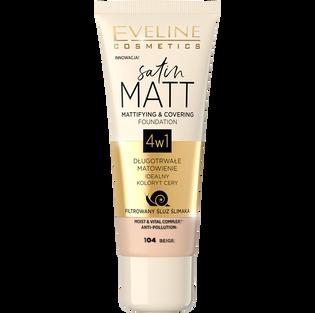 Eveline_Satin Matt_podkład do twarzy beige 104, 30 ml